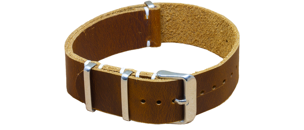 "Vintage Nato Leather ""Distressed Brown"""