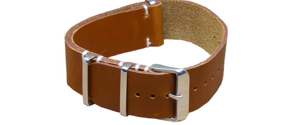 "Vintage Nato Leather ""Distressed Tanned"""