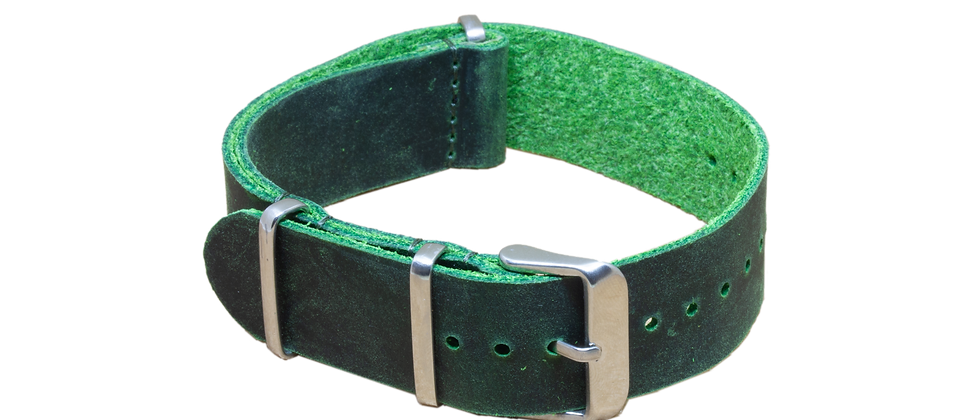 """Nato Leather """"Distressed Green"""""""