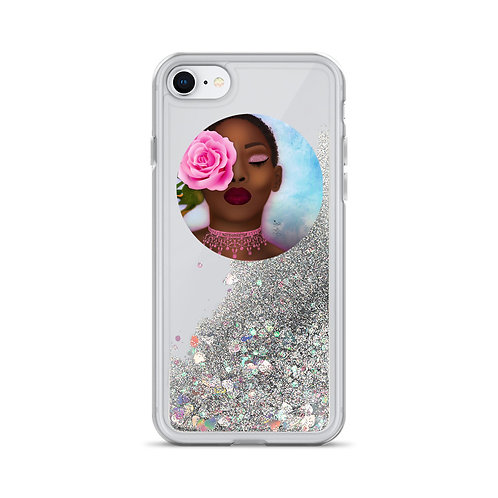 Kissed by a Rose -Liquid Glitter Phone Case