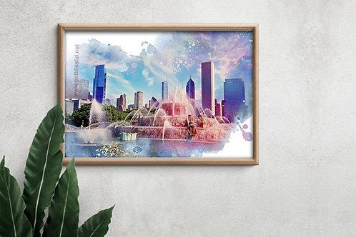 Vibrant Blash 18x12 Giclee Print