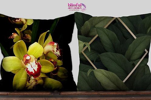 Green Orchid 14x14 Pillow