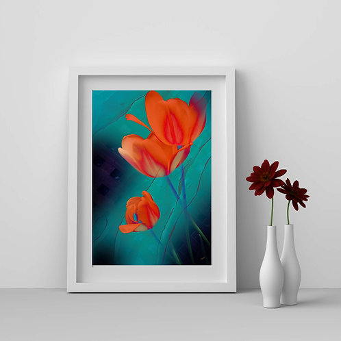 Ombre Blossom II |  Giclee 11x14 Print