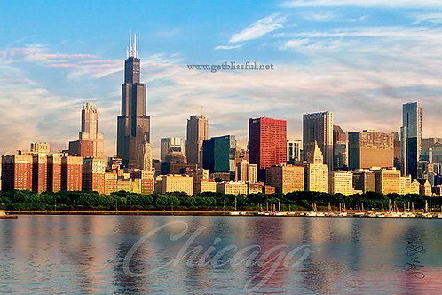 Blu Skies Chicago {Print} 20x16