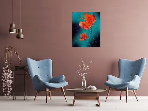 Ombre Blossom II {Canvas} 12x15