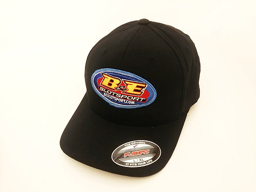 B&E Logo Flexfit Hat L/XL Black