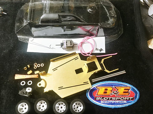 Dirt Late Model crate kit for 1:24 scale slot car racing