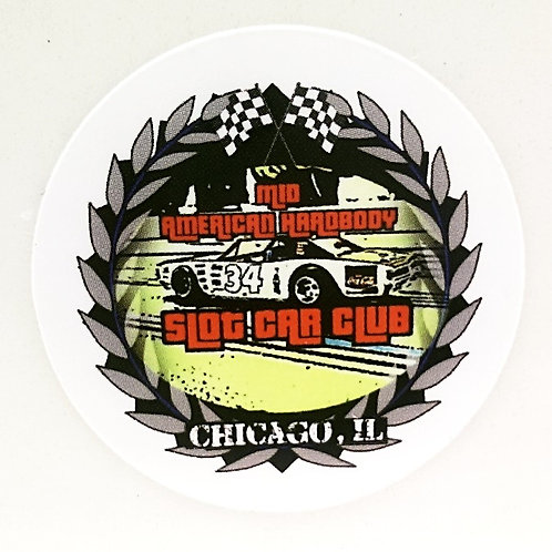 Hardbody Slot Car Club logo sticker