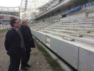 2014/2016 : évolution du chantier du Stade de Beaublanc