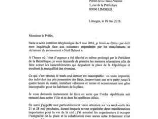 Place de la République : j'écris au préfet pour faire cesser les nuisances