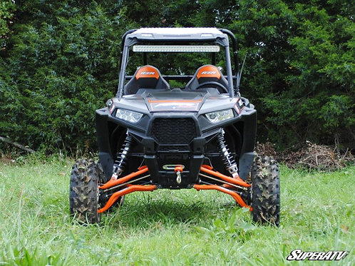 Polaris RZR XP 1000 with SuperATV Lift Kit: 3-5 Inch front view