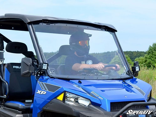 SuperATV Polaris Ranger 1000 Scratch Resistant Flip Windshield