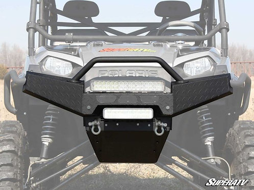 SuperATV Polaris Ranger Fullsize 1000 Textured Diamond Plate Front Brush Guard
