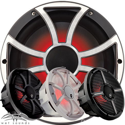 """Wet Sounds REVO10CX High Output Coaxial 10"""" Two Way Marine Loud Speaker"""