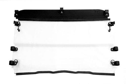 Seizmik UV Resistant Windshield Versa-Fold — Polaris Mid-Size Round Tube Ranger