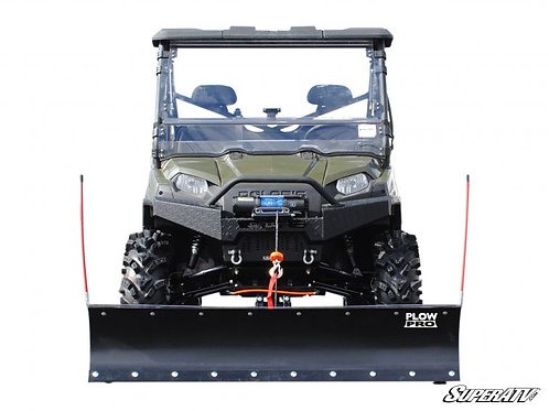 SuperATV Polaris Ranger Fullsize Plow Pro Heavy Duty Snow Plow front view