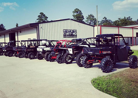Our new location with custom Ranger Can-Am UTVs