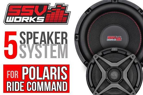 Polaris RZR Turbo S Complete SSV Works 5 Speaker Plug-And-Play Kit