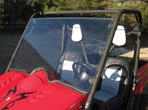 Seizmik Windshield – Full (UV Resistant Poly) — Yamaha Rhino