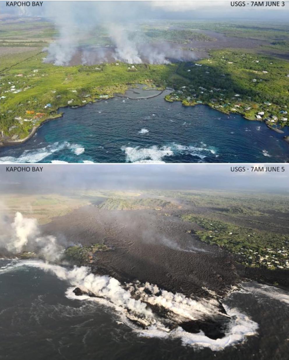 Lava covers Kapoho, Hawaii