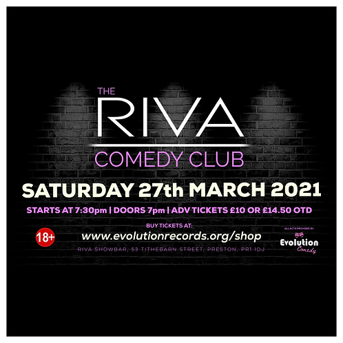 The Riva Comedy Club - LIVE at Riva Showbar, Preston (March 2021)