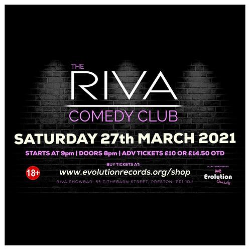 The Riva Comedy Club - LIVE at Riva Showbar, Preston (March 2021)