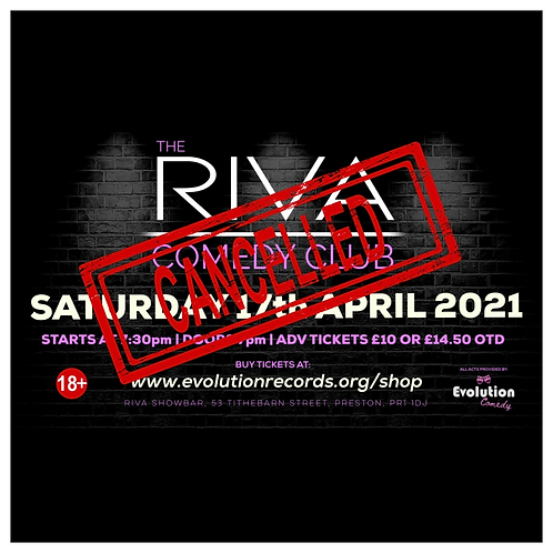 The Riva Comedy Club - LIVE at Riva Showbar, Preston (April 2021)