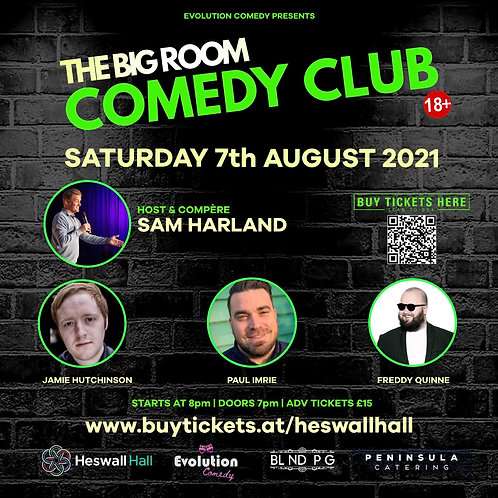 The Big Room Comedy Club, Heswall (August 2021)