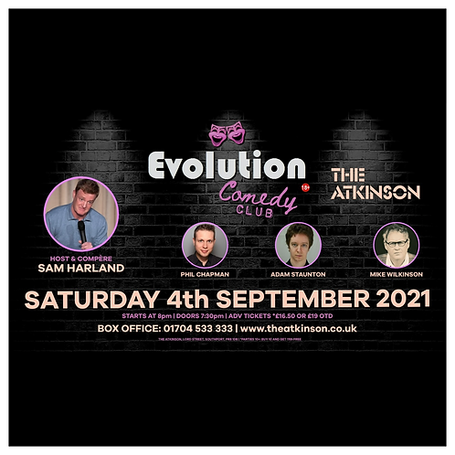 Evolution Comedy Club - LIVE at The Atkinson Theatre, Southport (September)