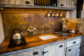 Rustic Style Poachers Hut Kitchen