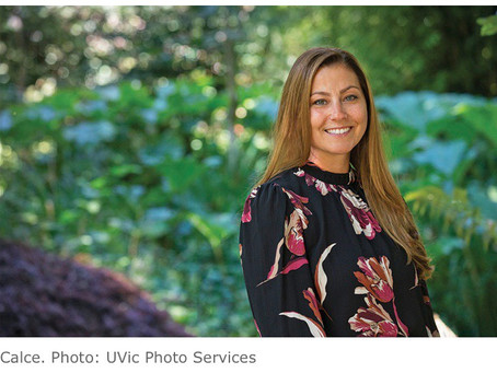 PhASE member Stephanie Calce receives UVic REACH Award for Excellence in Teaching