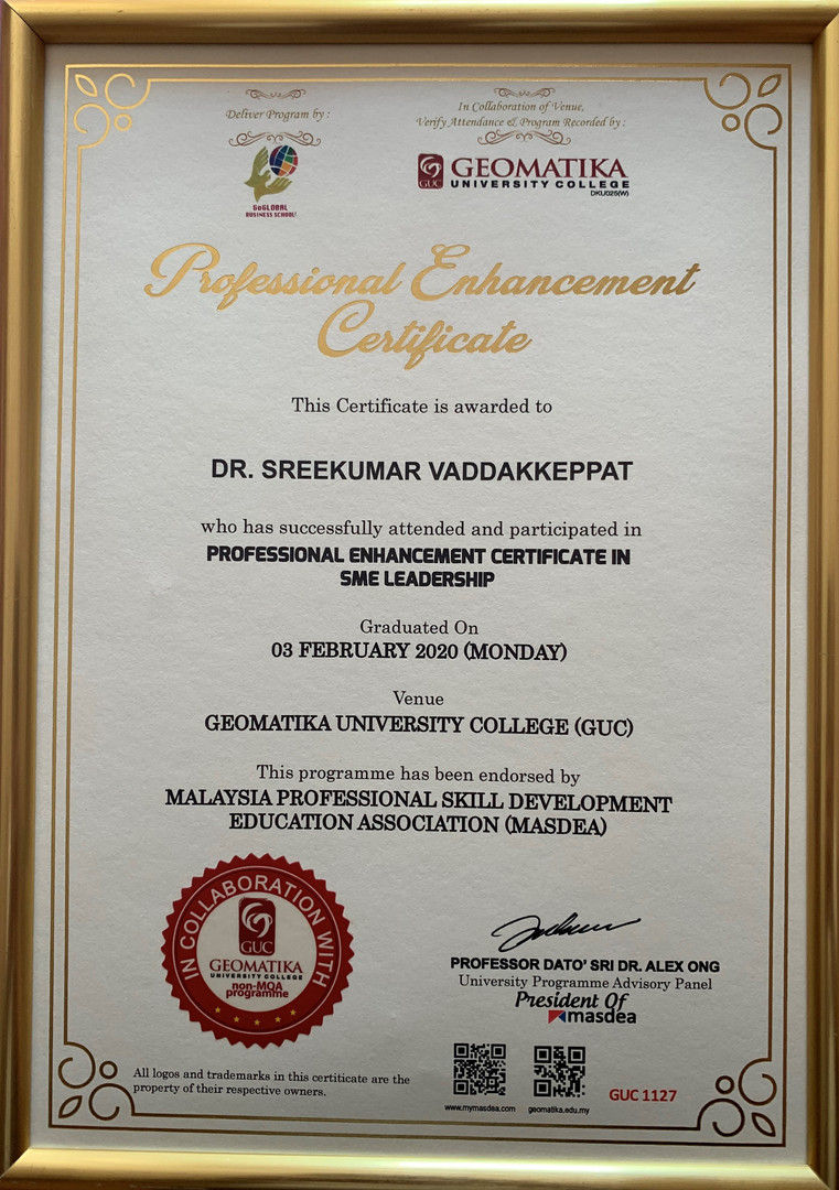 SME Leadership Certificate