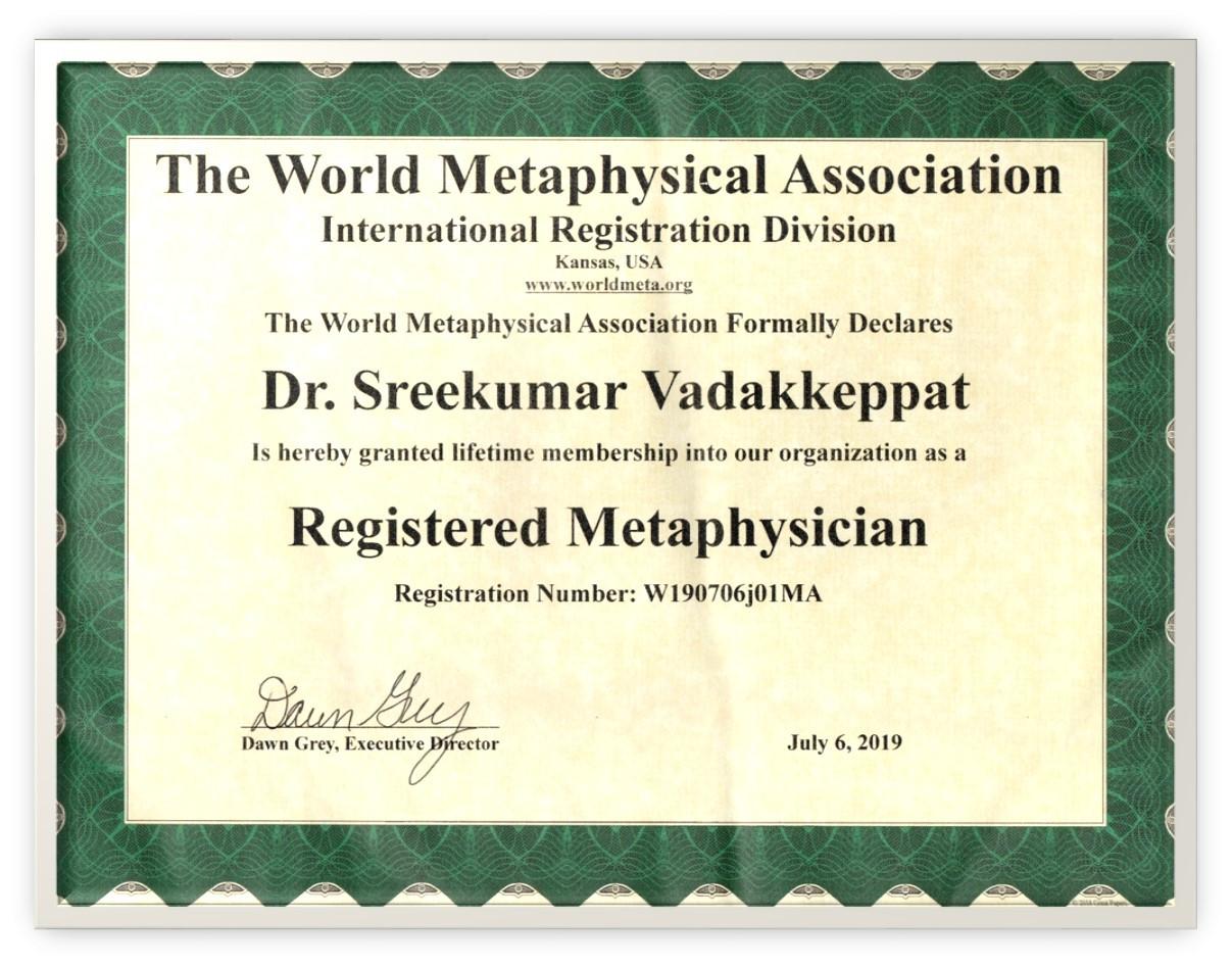 WMA Certificate
