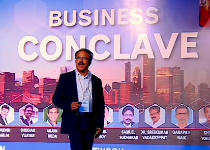 Speaking at Business Conclave 2018