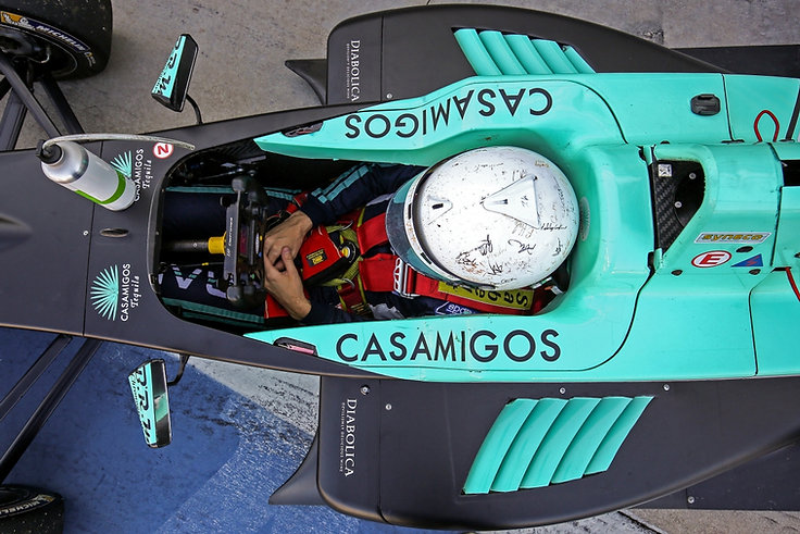 David Richert in Casamigos race car in Monza Italy