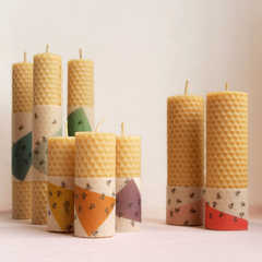 sviečky z včelieho plástu