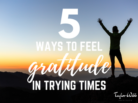 5 Ways to Feel Gratitude in Trying Times