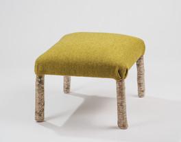 Green Kerry Woollen Mills footstool.jpg