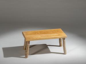 Small hazel Fireside stool  with oak top.jpg