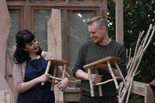Rosa&Stephen with their Green Wood stools-7234.jpeg