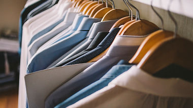 Men Dress Shirts on hangers