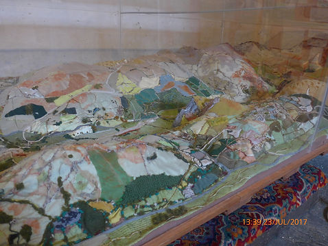 Hand-sewn 3D map of Dysynni Valley at St
