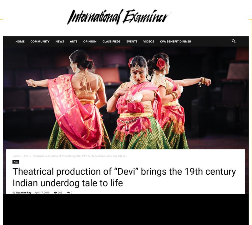 Devi featured in International Examiner