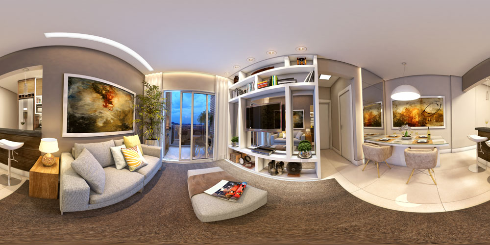 Tour 360º Living Residencial Monet