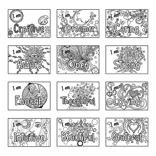 ColoringDeck Affirmations