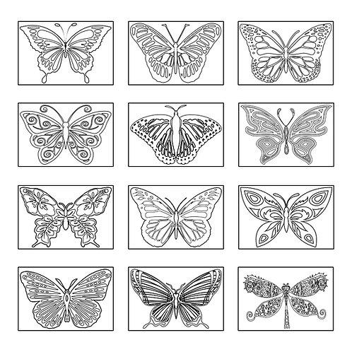 ColoringDeck Butterflies Too