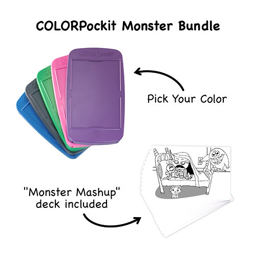 COLORpockit Plastic Monster Bundle