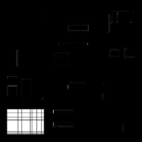ColoringDeck Modern Mondrian