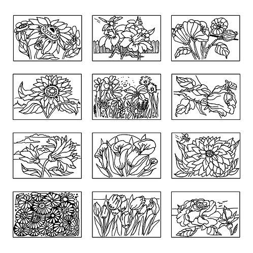 ColoringDeck Floral Fun 2