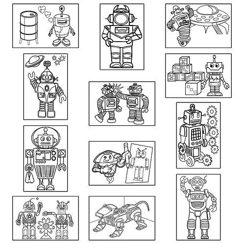 ColoringDeck Robots Rock
